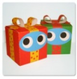 Papercraft - Adorno regalos cuadrados