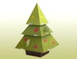 Papercraft - Arbol Navidad cuadrado