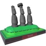 Papercraft - Chile - Estatuas Moai