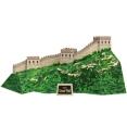 Papercraft model building de la Gran Muralla China. Manualidades a Raudales.