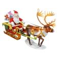 Papercraft - Conjunto Trineo Santa Claus