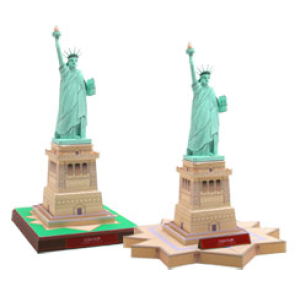 Papercraft de la Estatua de la Libertad en Estados Unidos. Manualidades a Raudales.
