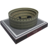 Papercraft imprimible armable del Coliseo / Coliseum en Roma. Manualidades a Raudales.