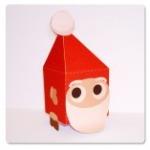 Papercraft - Papa Noel cuadrado