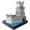 Papercraft building recortable y armable de la Torre de Belém en Portugal. Manualidades a Raudales.