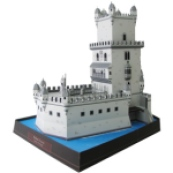 Papercraft building imprimible y armable de la Torre de Belém en Portugal. Manualidades a Raudales.