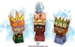 Papercraft - 3 Reyes Magos