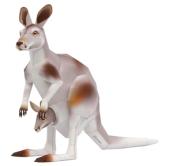 Papercraft imprimible de un Canguro / Kangaroo. Manualidades a Raudales.