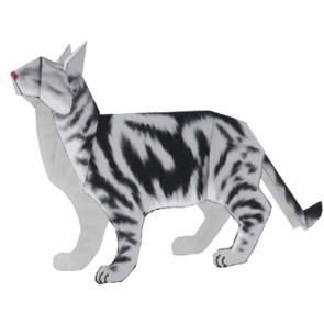Papercraft model - Gato americano pelo corto