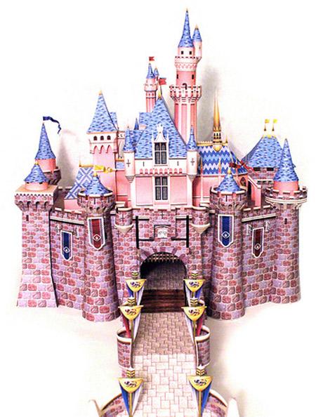 Papercraft building del Castillo de la bella durmiente. Manualidades a Raudales.
