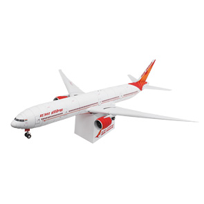 Papercraft del Boeing 777-300 de Air India. Manualidades a Raudales.
