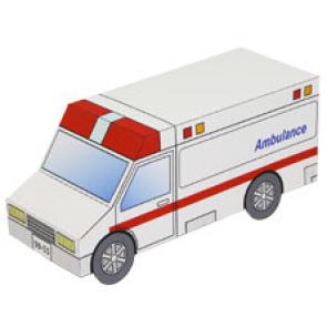 Papercraft de la ambulancia de la mini-ciudad / craftown. Manualidades a Raudales.