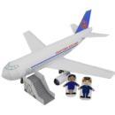 Paper model del Avión de pasajeros para la mini-ciudad / craftown. Manualidades a Raudales.