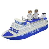 Papercraft recortable del Barco de pasajeros para la mini-ciudad / craftown. Manualidades a Raudales.