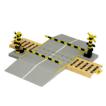 Paper model de una Barrera ferrocarril / Railroadcrossing. Manualidades a Raudales.