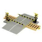 Paper model de la Barrera del ferrocarril. Manualidades a Raudales.
