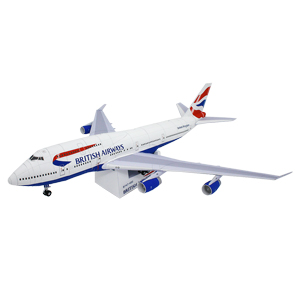 Papercraft del Boeing 747-400 de British Airways. Manualidades a Raudales.