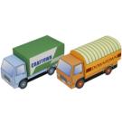 Papercraft del Camión para la mini-ciudad / craftown. Manualidades a Raudales.