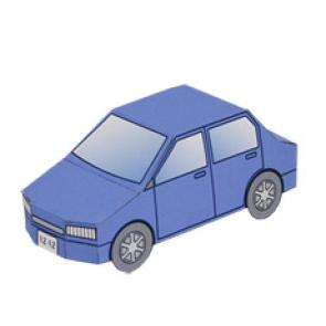 Paper model - Coche