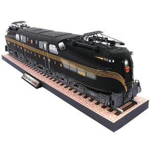 Papercraft imprimible de la GG1-type Electric Locomotive. Manualidades a Raudales.
