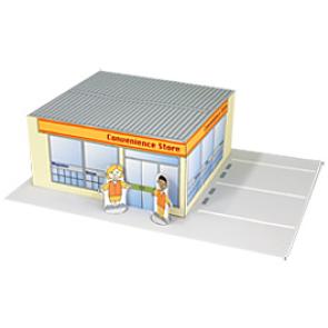 Papercraft de la Tienda 24h / Convenience store. Manualidades a Raudales.
