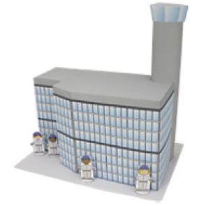 Papercraft de la Torre de control / Control tower. Manualidades a Raudales.