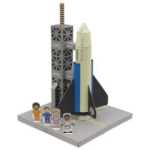 Papercraft de un Transbordador espacial / Shuttle. Manualidades a Raudales.