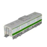 Papercraft del Tren (vagón central) / Train (middle car). Manualidades a Raudales.