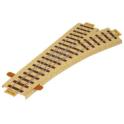 Papercraft de la Vía férrea desvío derecha / Railroad (point / right). Manualidades a Raudales.