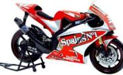Papercraft imprimible y armable de la motocicleta Yamaha YZR M1. Modelo 2004. Manualidades a Raudales.