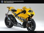 Papercraft imprimible y recortable de la motocicleta Yamaha YZR-M1. 50th Anniversary US Edition. Manualidades a Raudales.