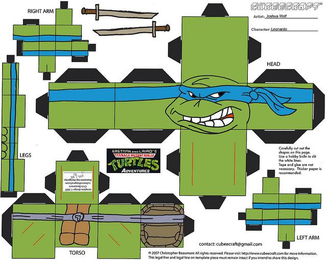 Cubeecraft de las Tortugas Ninja.