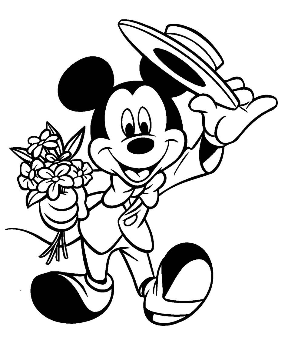Fichas para colorear del famoso personaje de Disney \