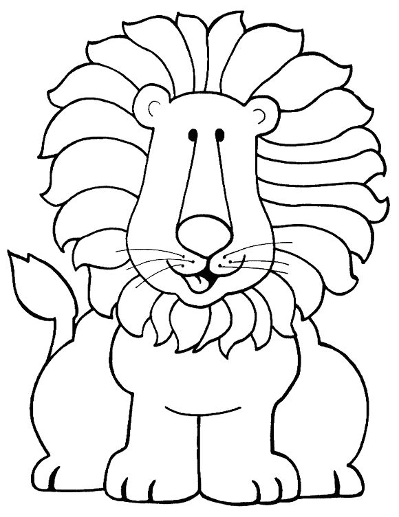 Colorear león 8.