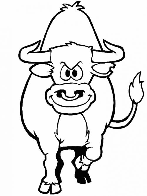 Fichas educativas infantiles para colorear tigres y toros ...