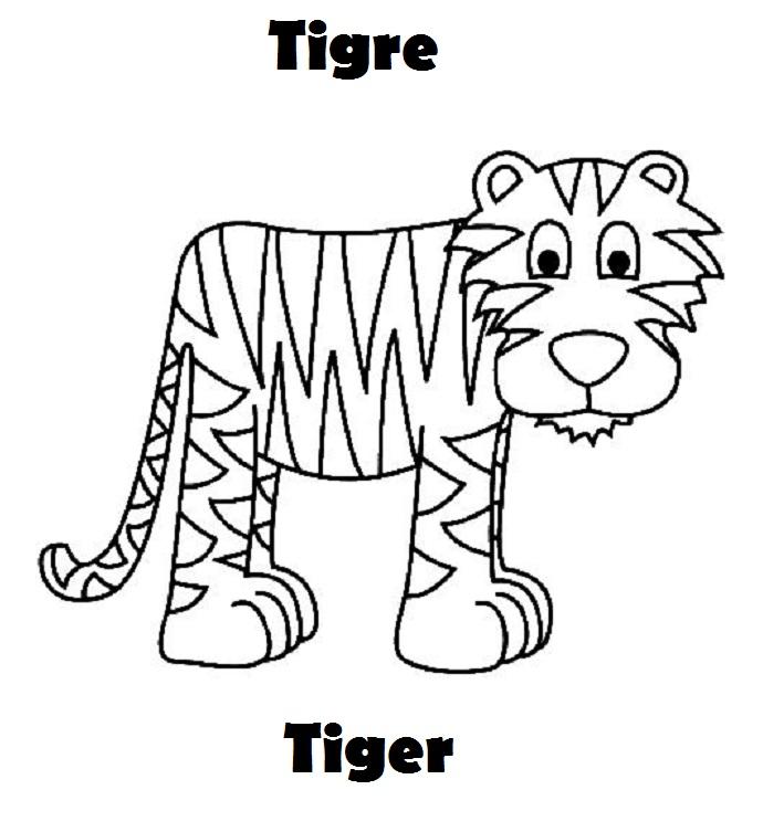 Hermosa Libro Para Colorear Tigre Friso - Dibujos Para Colorear En ...